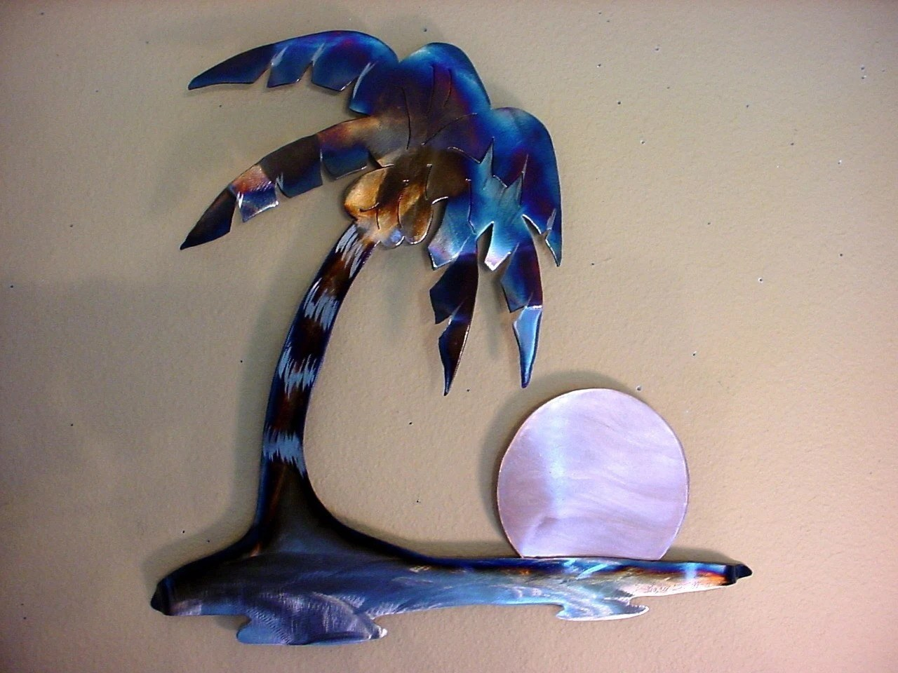 HAWAIIAN ISLAND HAWAII PALM TREE STEEL METAL WALL ART COCONUT