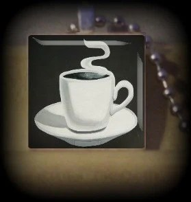 Cup of Coffee num 4 (F 13) Vintage Scrabble Tile Pendant ..BUY 3 GET 1 FREE..
