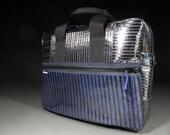 Carbon Fiber Briefcase - Black and Blue - RAGGEDedgeGear