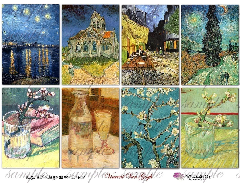 Vincent Van Gogh Digital Collage Sheet No 144