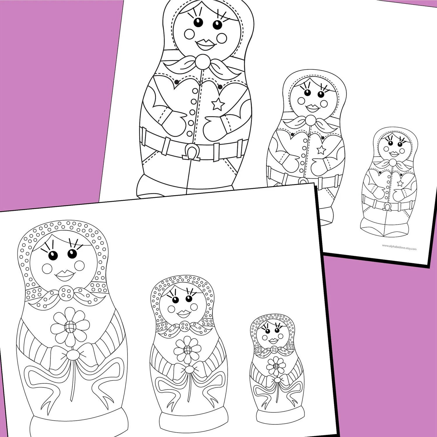 Marvelous Matryoshka Dolls Coloring Pages 10 By Triciapiasecki