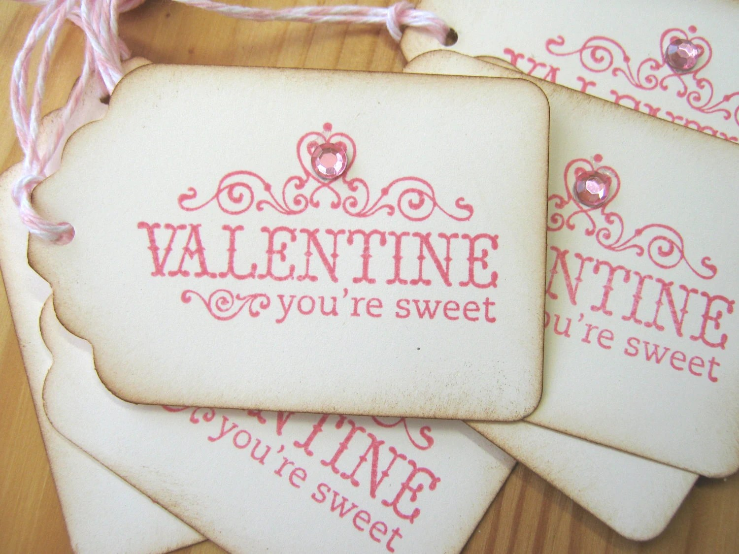 Sweet Pink Valentine Gift Tags - CharonelDesigns