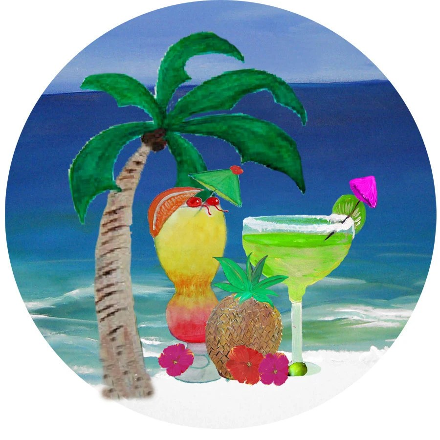Tropical Drinks On The Beach Hot Girls Wallpaper