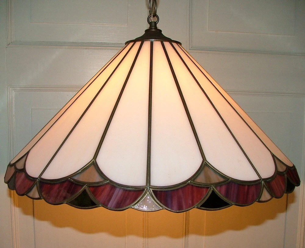 Slag Stained Glass Hanging Ceiling Light Fixture By AnnsLights