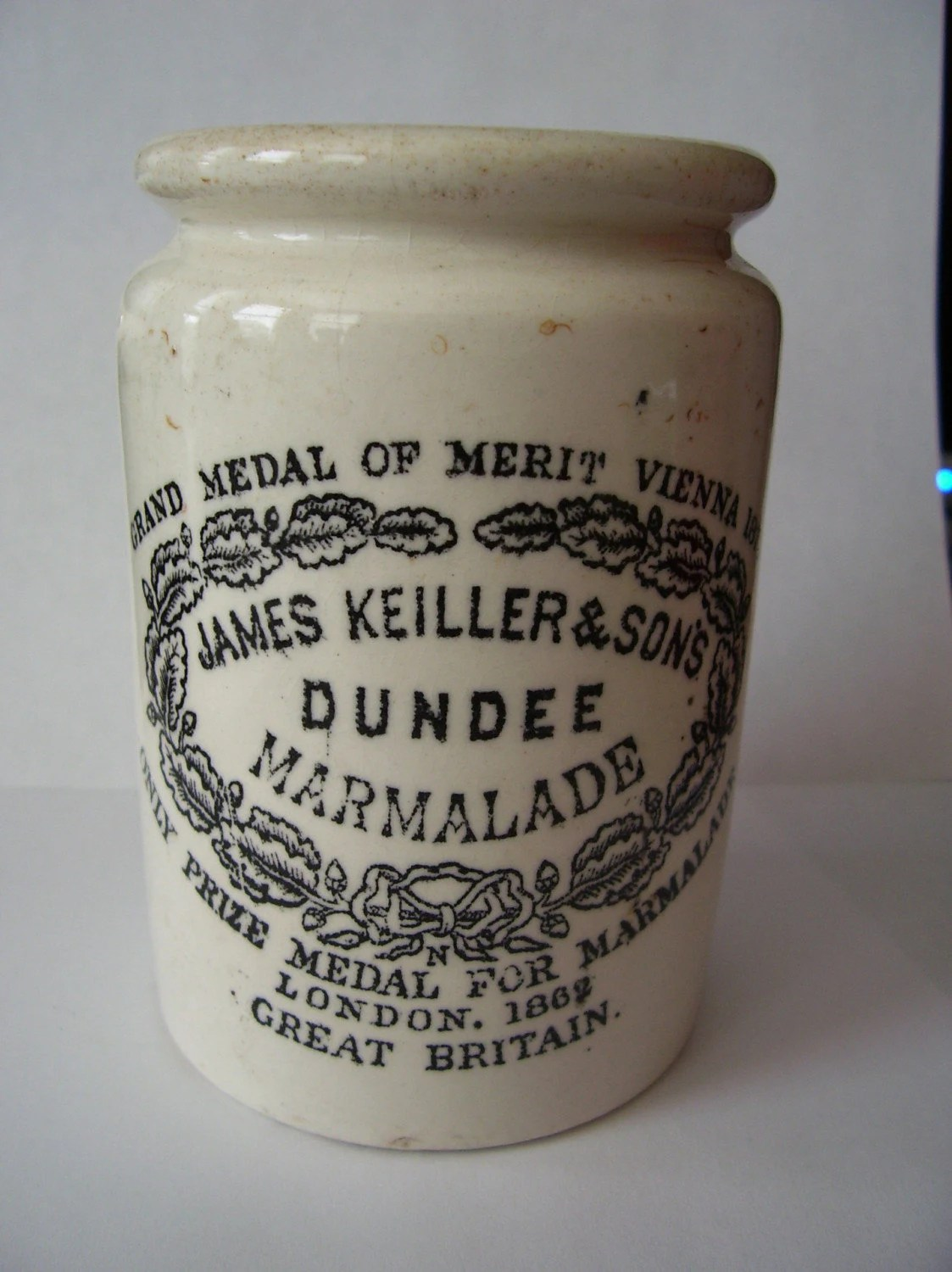 Antique 1873 James Keiller And Sons Dundee MARMALADE Crockery