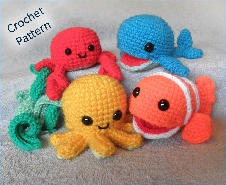Underwater Friends Sea Creatures Or Mobile Crochet