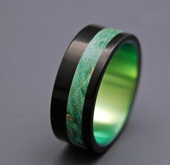 Items Similar To Black Rings Wooden Wedding Rings