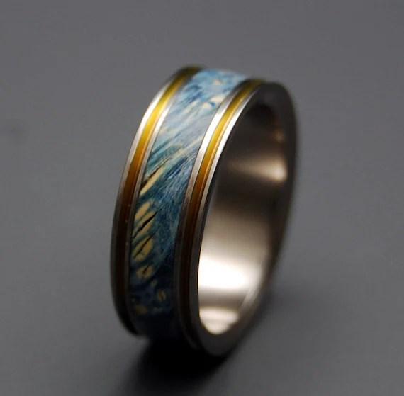 Items Similar To Titanium Wedding Ring Wood Ring Wedding