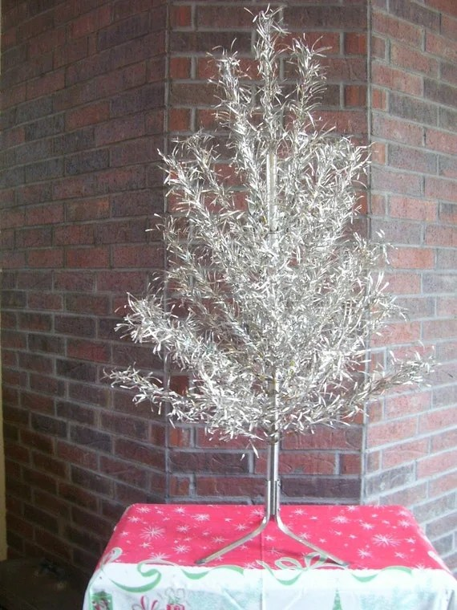 SALE Retro Shiny Aluminum Christmas Tree By SaveTheVintage