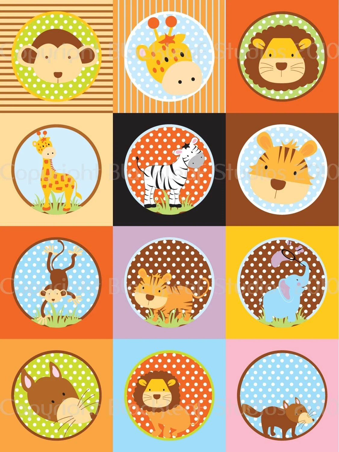 Diy Printable Baby Animals Collage Sheet