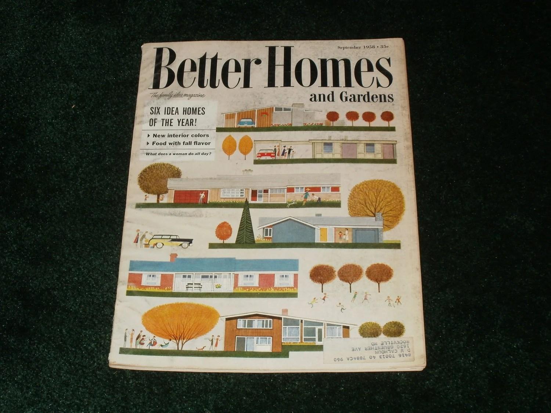 Vintage Better Homes And Gardens Magazines September 1958