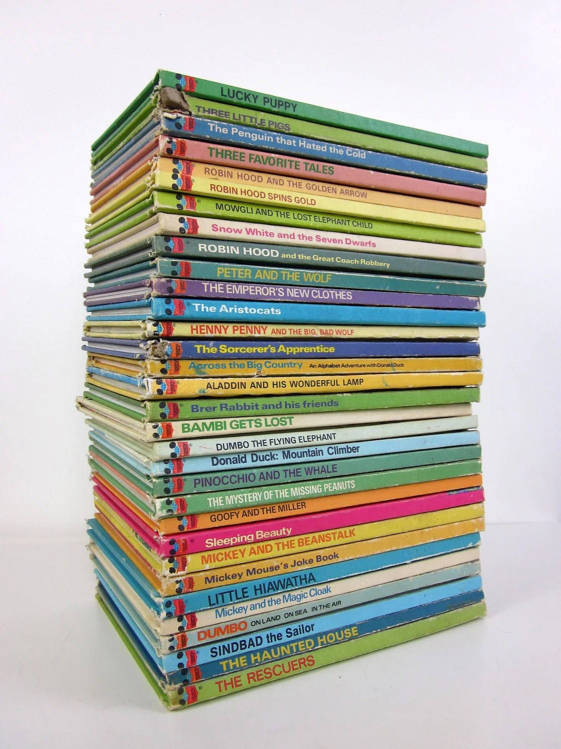 Walt Disney S Wonderful World Of Reading Books 70s Set