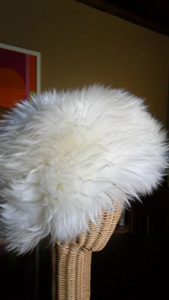 Fluffy Italian Lamb Fur Hat - biscuitblues