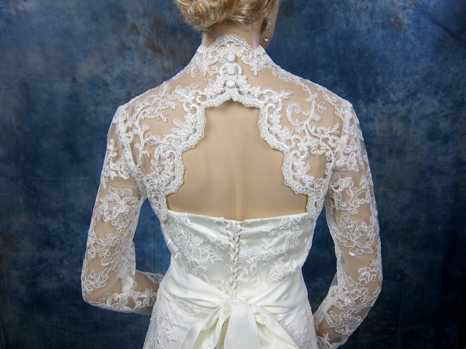 Wedding Bolero Lace Bolero Bridal Bolero Jacket Ivory