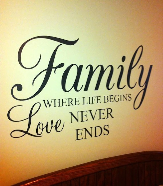Download Items similar to Family where Life Begins Love Never Ends ...