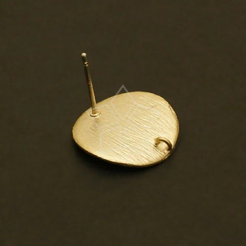 SI 094 MG 2 Pcs Bent Disc Earring Findings Matte By