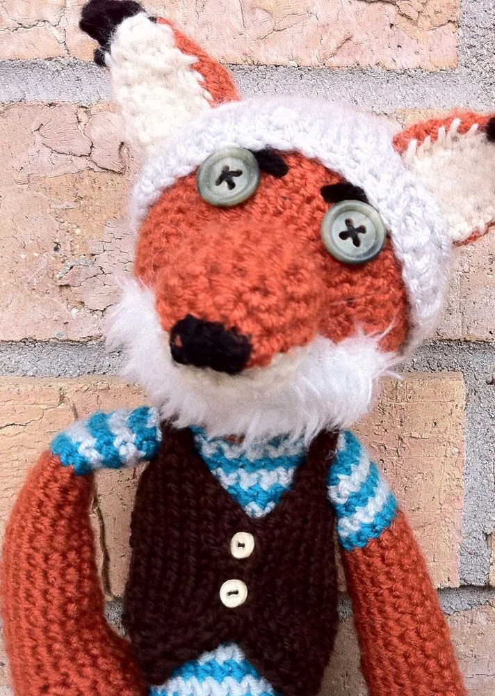 Amigurumi Crochet Fox, Fantastic Hipster Fox Made To Order