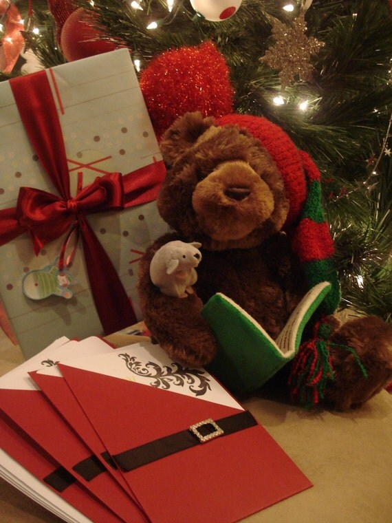 Twas The Night Before Christmas Basket With Gund Talking Teddy