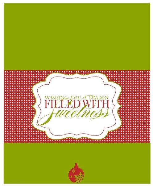 Items Similar To Christmas Candy Bar Wrapper A Red And