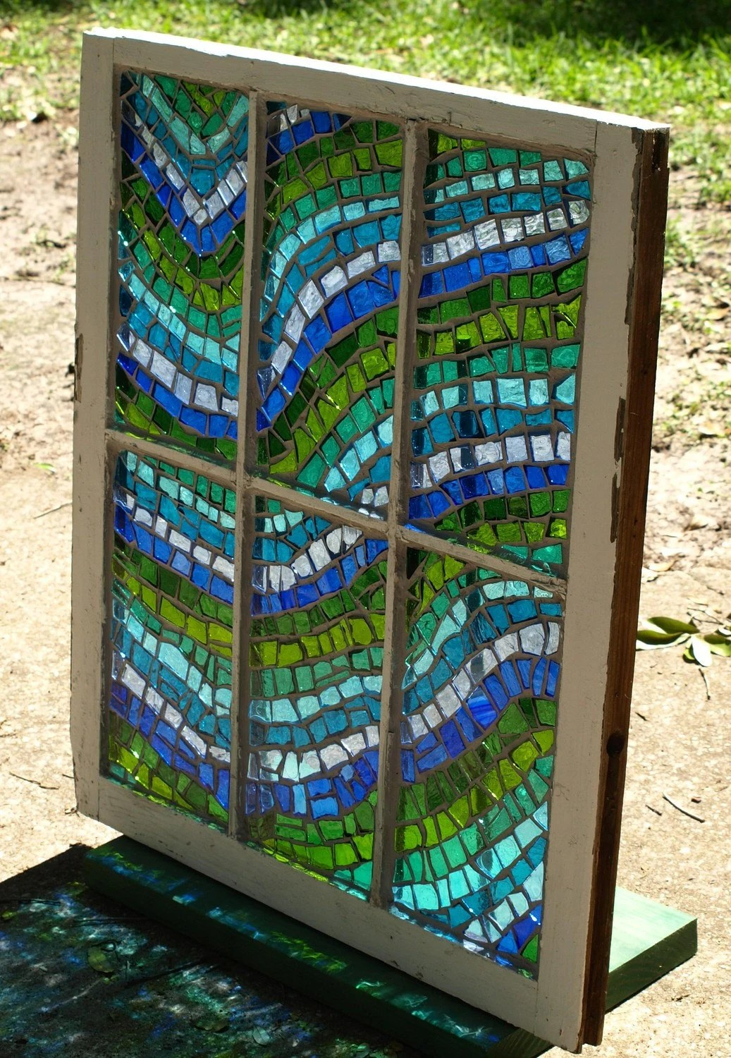 Reserved Listing For Fleurme Stained Glass Mosaic Repurposed