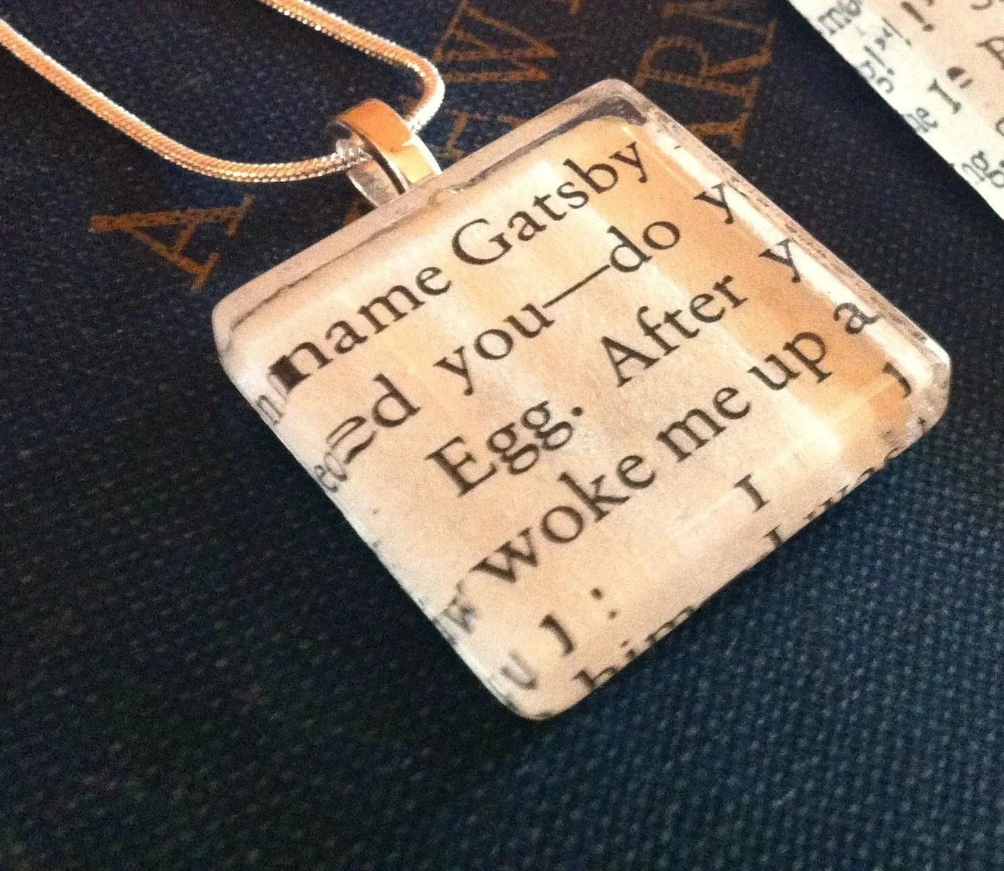 Vintage Book Necklace