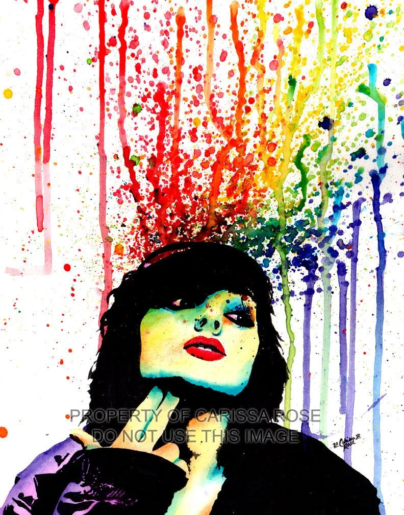 40 PERCENT OFF Edgy Punk Rock Rainbow Pop Art Portrait Wall Art Print - Don't Drink Poison by Carissa Rose 5x7, 8x10, 11x14 - NeverDieArt