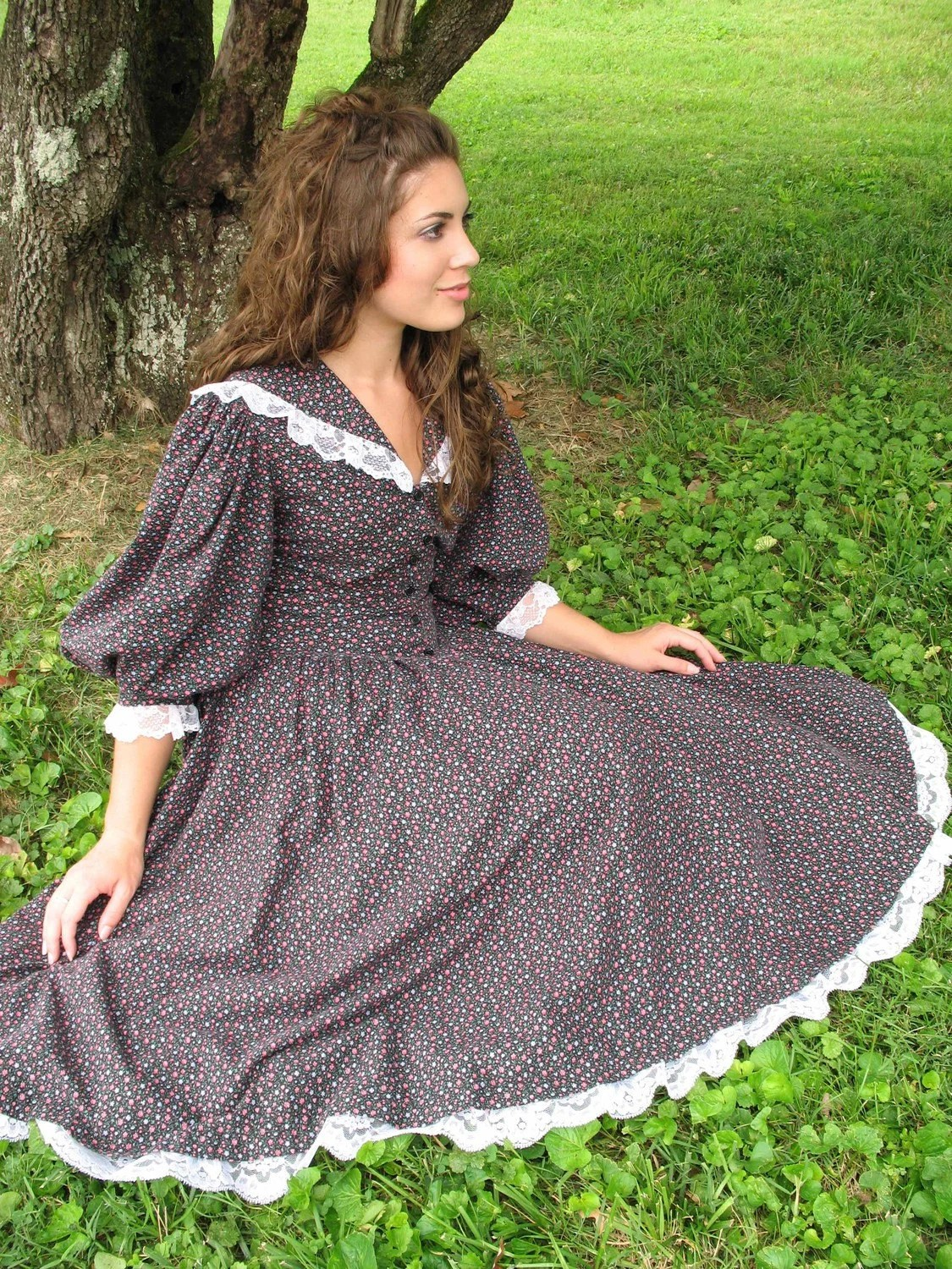 Reserved Listing Vintage Anne Of Green Gables Calico Dress