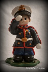 Polymer Clay MARINE Figurine by Trina's Clay Creations on Etsy