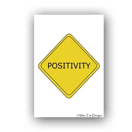 Inspirational Art Print, Positivity, 11x17 - MissTanDesigns