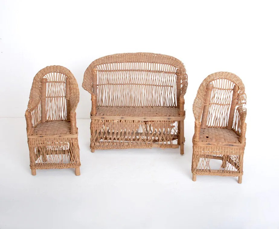 Antique Wicker Doll Furniture Chairs Haute Juice