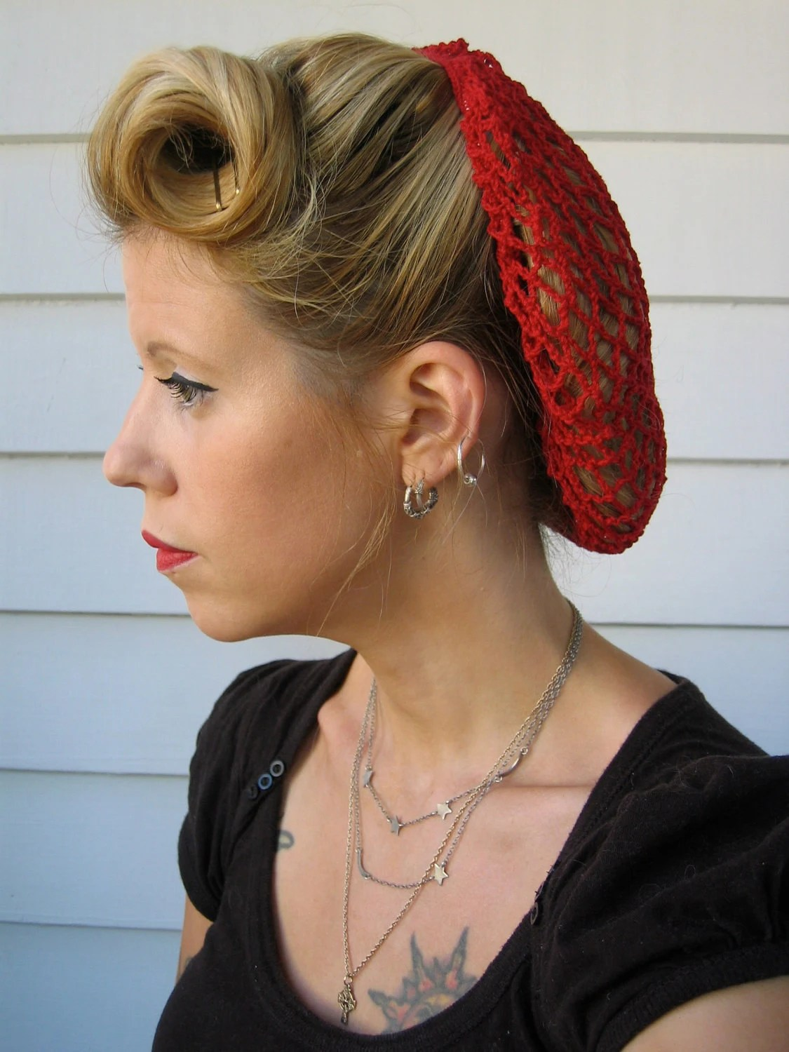 Items Similar To Retro 1940s Style Hair Snood On Etsy