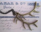 Brass Antlers Necklace - CharmsCityCompany
