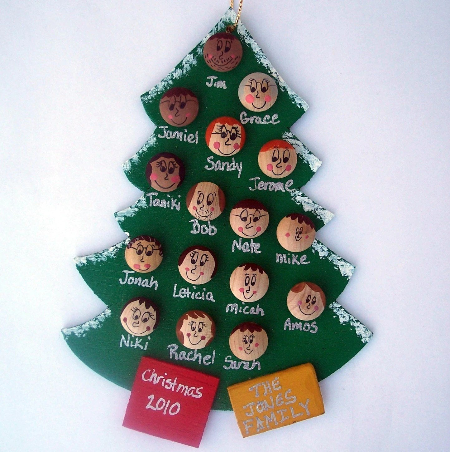 Personalized Family Christmas Tree Ornament Up To By