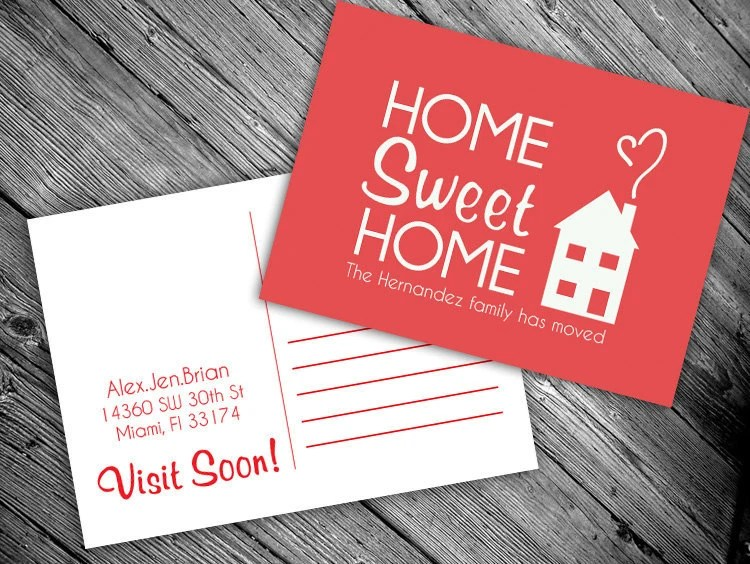 Items Similar To We Have Moved Postcard PRINTABLE Home