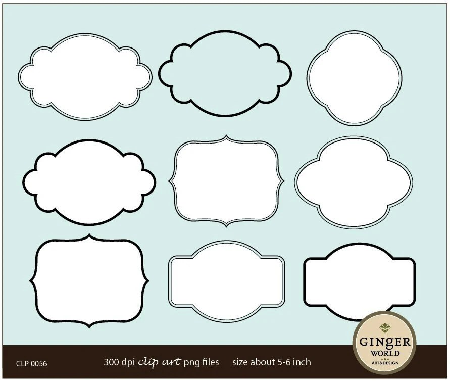 Free Printable Label Template  label shapes template free