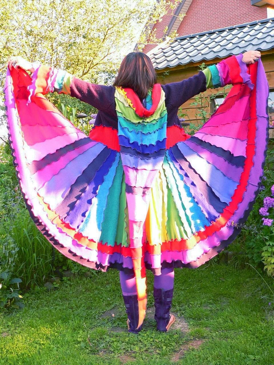 jacket jumper pixie sweater vest LONG coat cardigan festival hoodie gypsy cap gnome psy goa