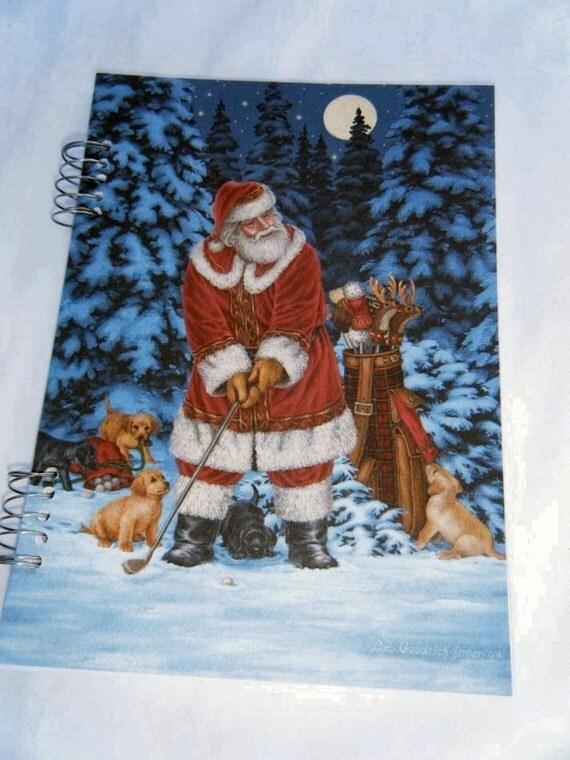North Pole Pro USGA Sample Christmas Card Journal OOAK