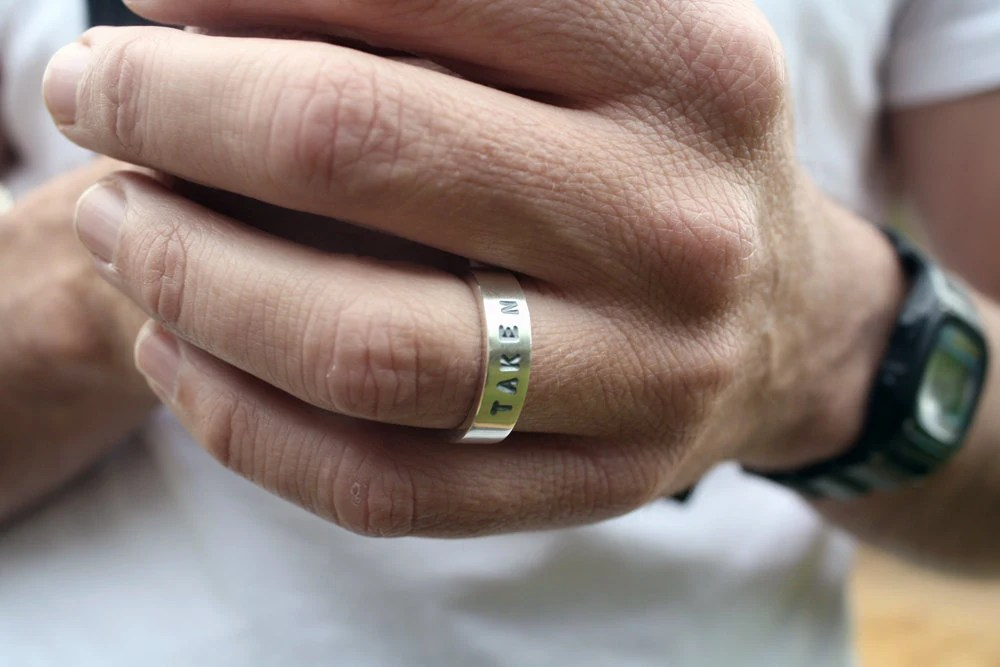Unique Mens Wedding Ring Taken Ring Chunky By LolaAndCash