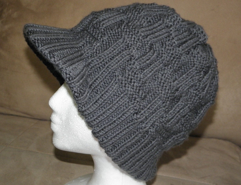 Knitting Pattern Knit Visor Hat Geometry