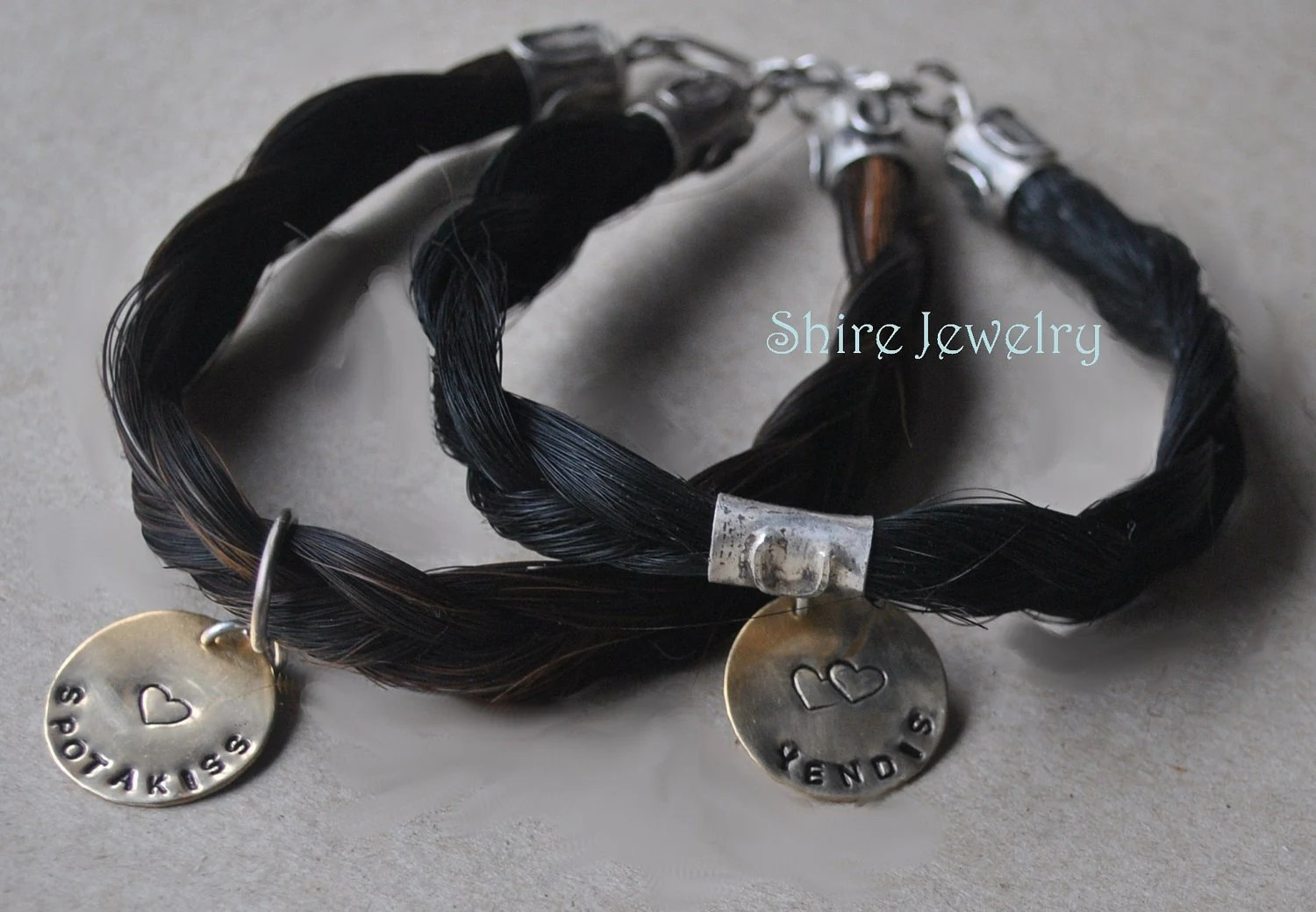 Your Custom Horse Hair Bracelet In Sterling Silver