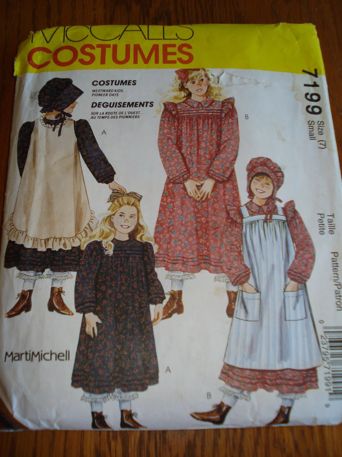 Mccall S Prairie Girl Costume Pattern Size Small