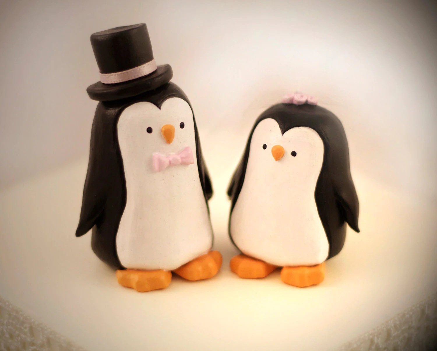 Custom Penguin Wedding Cake Topper Personalized By