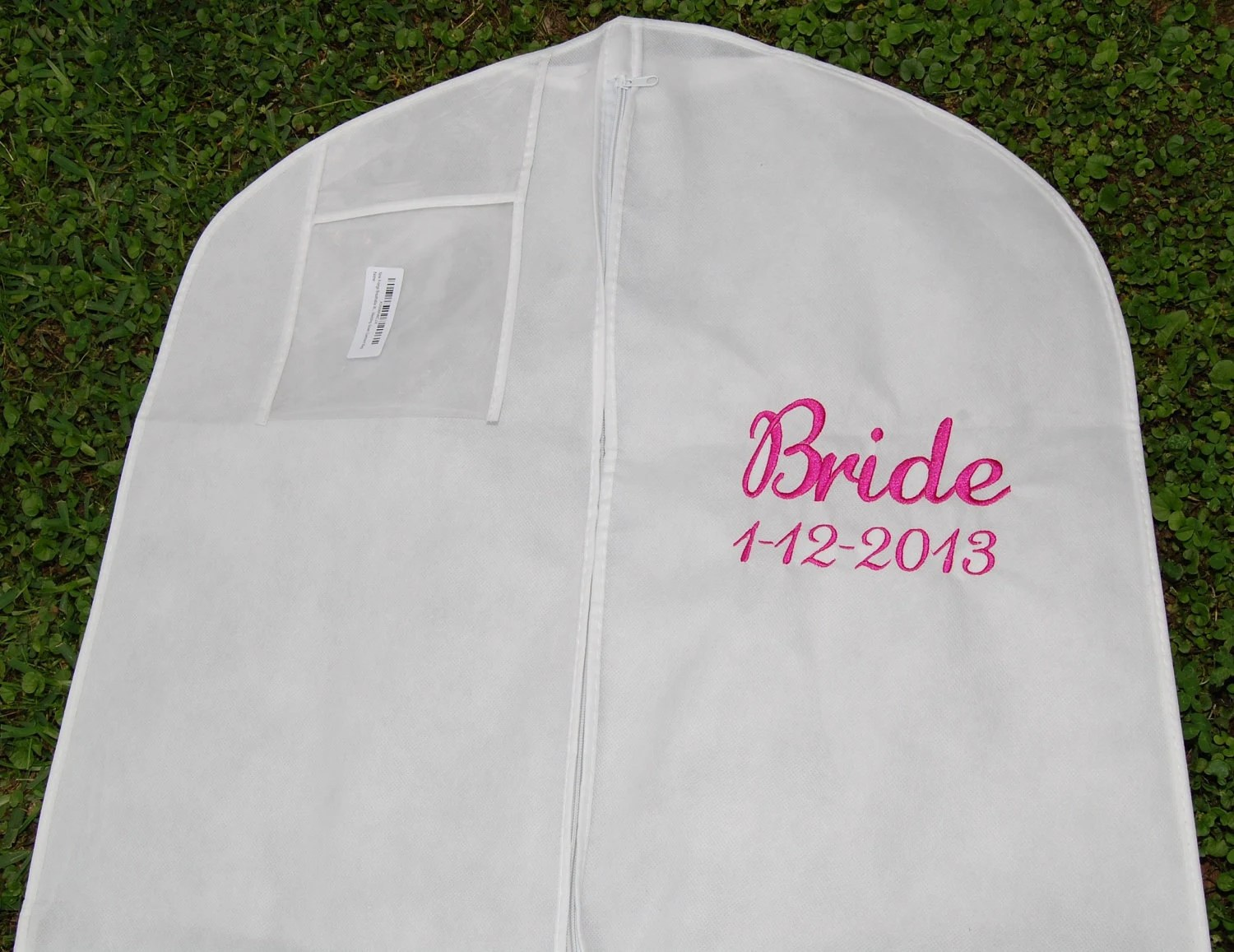 Personalized XL Extra Large Bridal Gown Dress Garment Bag