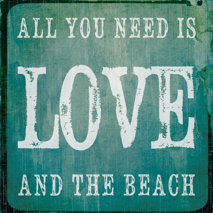 Download Beach Decor Square Print All You Need Is Love And The by ...