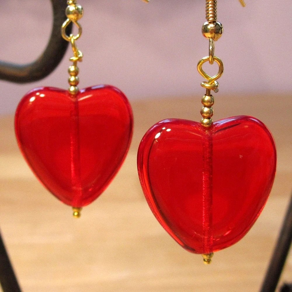 Heart of Glass gold earrings - annaleahy