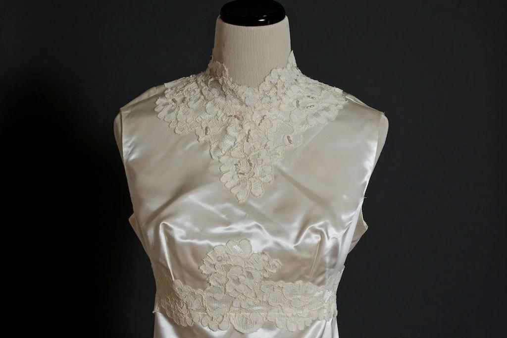 Items Similar To Vintage Ivory Satin 1930s Wedding Dress