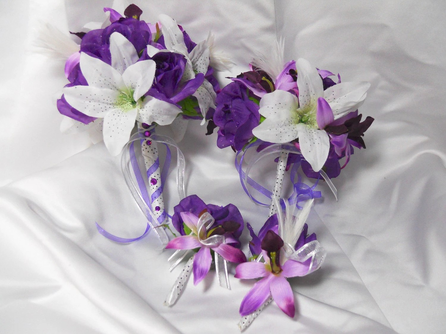 Wedding Bouquet And Boutonniere Bridal Package Tropical Beach