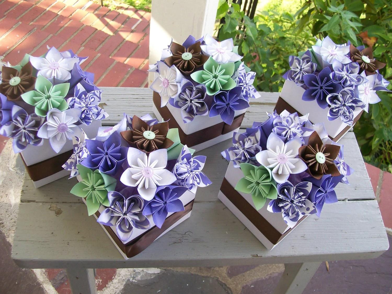 Paper Flower Centerpieces Origami Kusudama Made By PoshStudios
