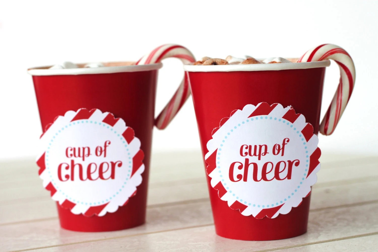 Items Similar To PRINTABLE Cup Of Cheer Circles For