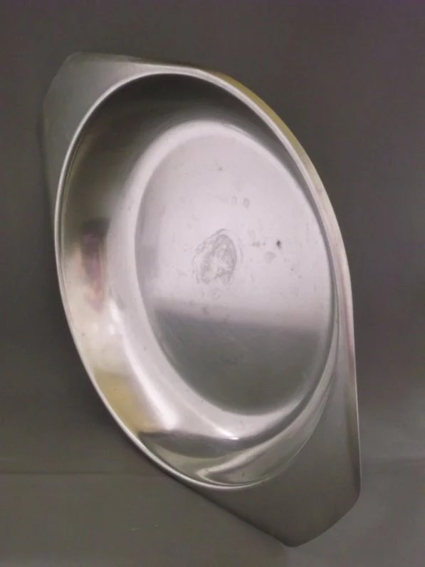 Stainless Steel Plate Shallow Bowl Made In By LoveAndLegacies